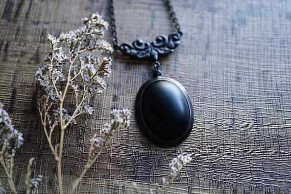 Victorian Black Onyx Necklace