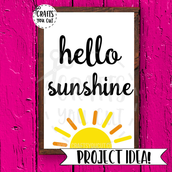Summer SVG Cut File Hello, Sunshine - Crafts You Cut