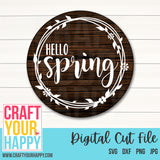 Spring Cut File Hello Spring 1 SVG Cut File - Crafts You Cut