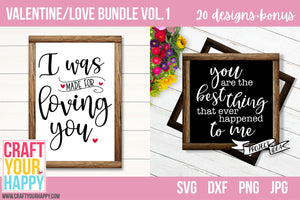 SVG Cut File Bundles - Valentine/Love Bundle Vol. 1 - Crafts You Cut