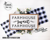 Farm SVG - Farmhouse Sweet Farmhouse 2 - Cut File For Cricut, Silhouette - Crafts You Cut