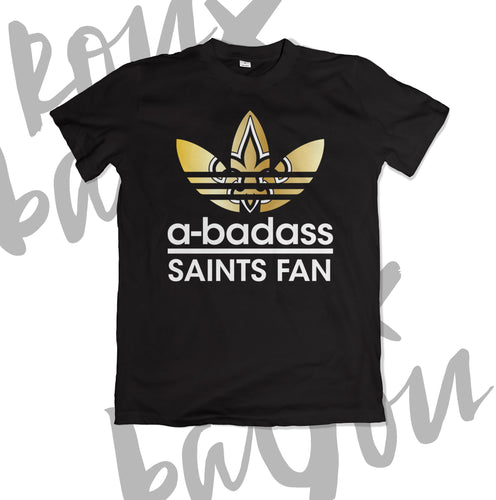 abadass (adidas inspired) Saints Fan Shirt - RouxBayou