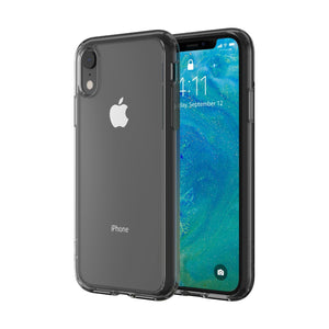 Altigo iPhone XR Case - Clear Case with Charcoal Crystal Bumper