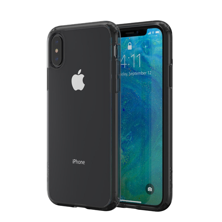 Altigo iPhone XS Case (Compatible with iPhone X) - Clear Case with Charcoal Crystal Bumper