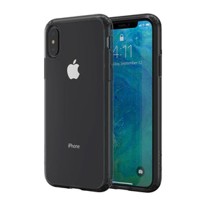 Altigo iPhone Xs Max Case - Clear Case with Charcoal Crystal Bumper