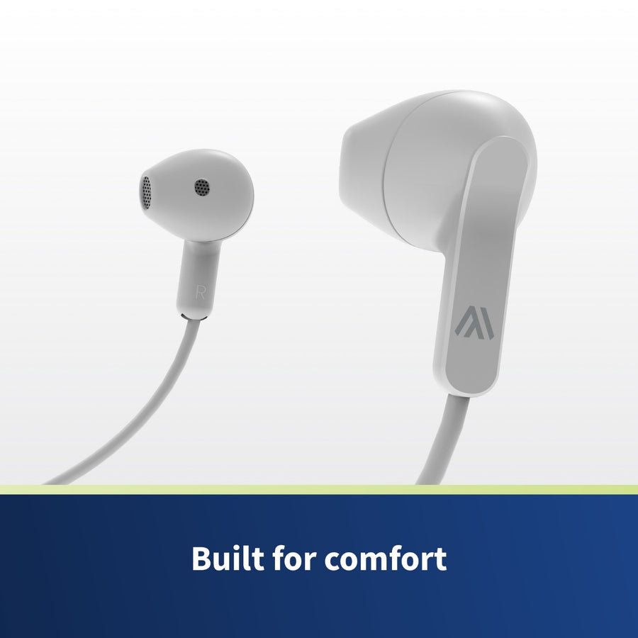 Bluetooth Headphones - Altigo On Ear Wireless Earbuds (White)