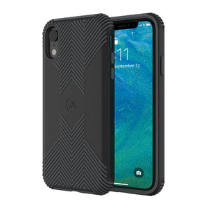 Altigo iPhone XR Case - Protective, Shock Absorbent, with Textured Shell (Black/Grey)
