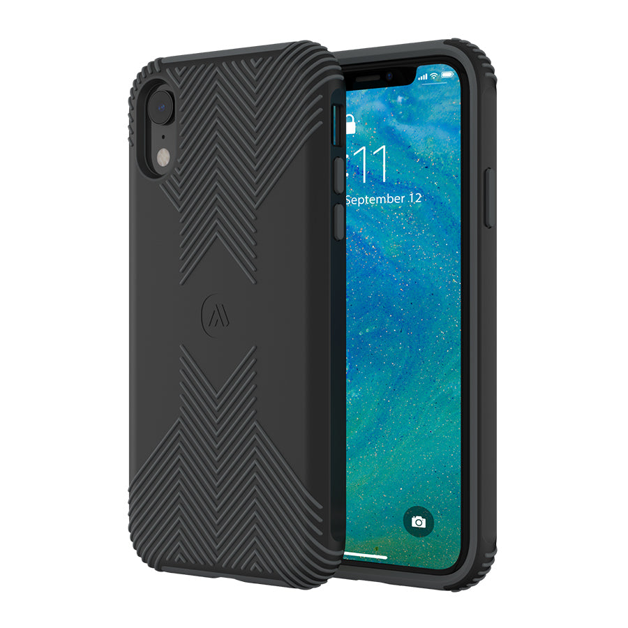 best website 6fe91 197d9 Altigo iPhone XR Case - Protective, Shock Absorbent, with Textured Shell  (Black/Grey)