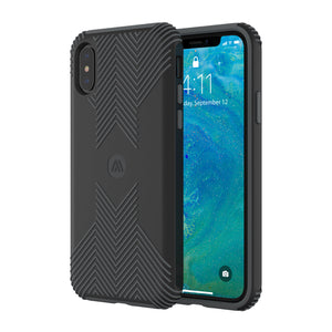 Altigo iPhone Xs Case (Compatible with iPhone X) - Protective, Shock Absorbent, with Textured Shell (Black)