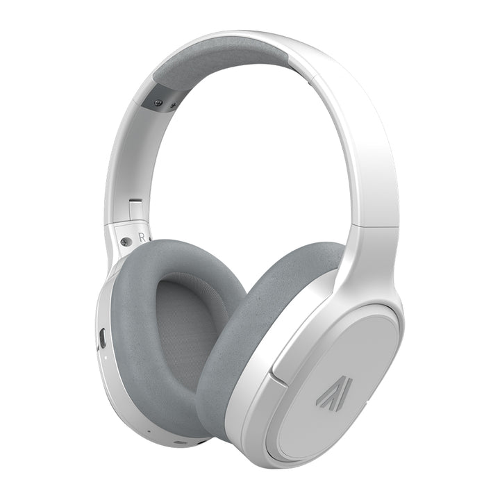 Altigo Wireless Bluetooth Headphones (Over Ear | Active Noise Cancelling) – White