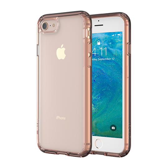 Altigo iPhone 8 Case - Clear Case with Pink Crystal Bumper