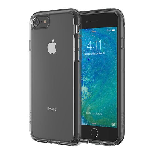 Altigo iPhone 8 Case (Also fits iPhone 7) - Clear Case with Charcoal Crystal Bumper