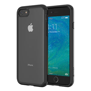 Altigo iPhone 8 Case (Also fits iPhone 7) - Clear Case with Solid Black Bumper