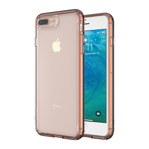 Altigo iPhone 8 Plus Case - Clear Case with Pink Crystal Bumper