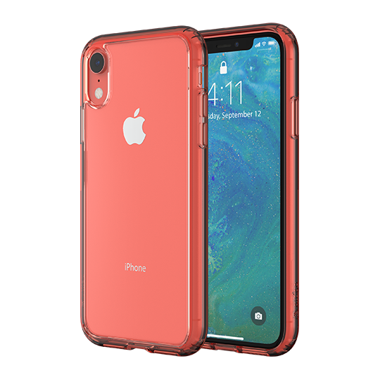 Altigo iPhone XR Case - Clear Case with Crystal Coral Bumper