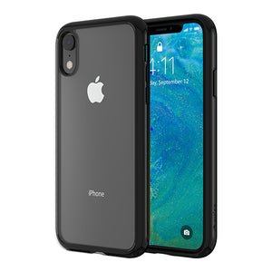 Altigo iPhone XR Case - Clear Case with Solid Black Bumper