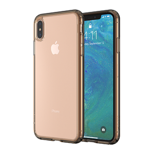 Altigo iPhone Xs Max Case - Clear Case with Gold Crystal Bumper