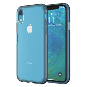Altigo iPhone XR Case - Clear Case with Blue Crystal Bumper