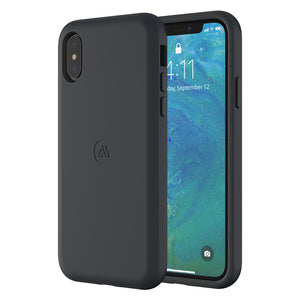Altigo iPhone Xs Case (Compatible with iPhone X) - Protective, Shock Absorbent (Black)