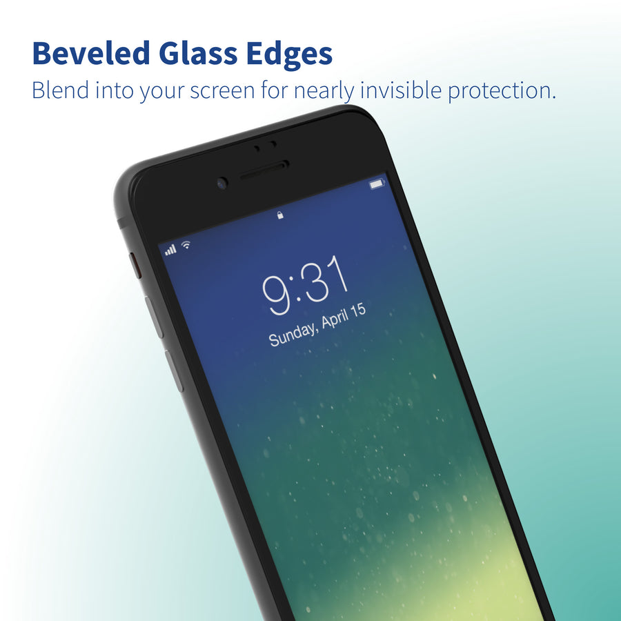 Altigo iPhone 8 Plus Case (Also fits iPhone 7 Plus) - Clear Case with Black Screen Protector