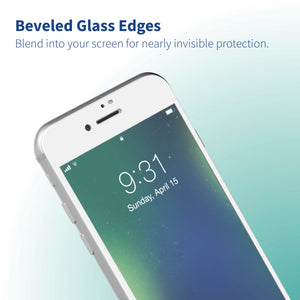 Altigo Triumph iPhone 8 Case (Also fits iPhone 7) - Clear Case with White Screen Protector