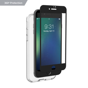 Altigo Triumph iPhone 8 Case (Also fits iPhone 7) - Clear Case with Black Screen Protector