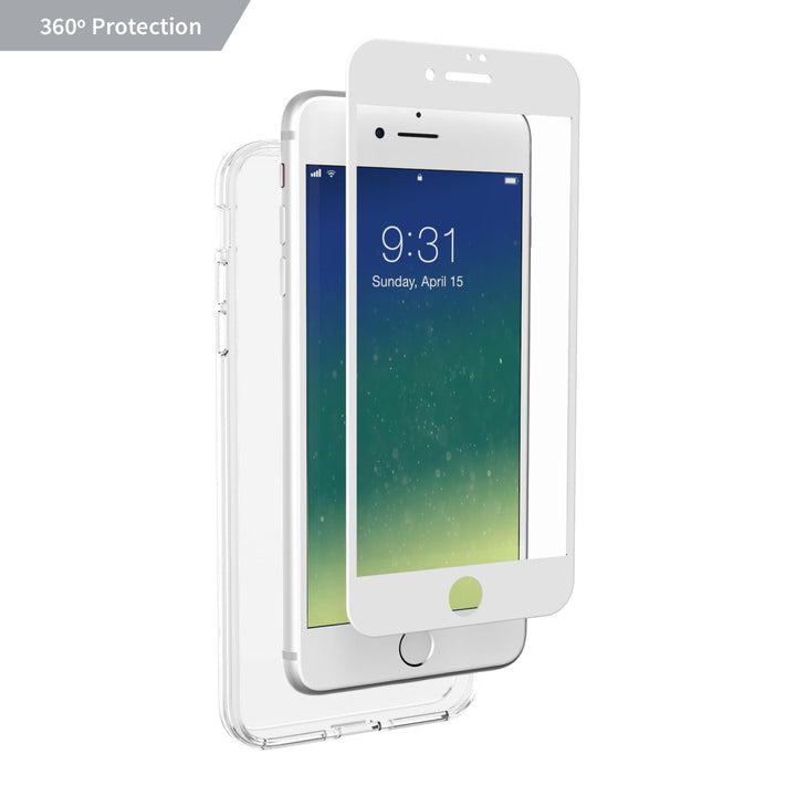 Altigo iPhone 8 Plus Case (Also fits iPhone 7 Plus) - Clear Case with White Screen Protector