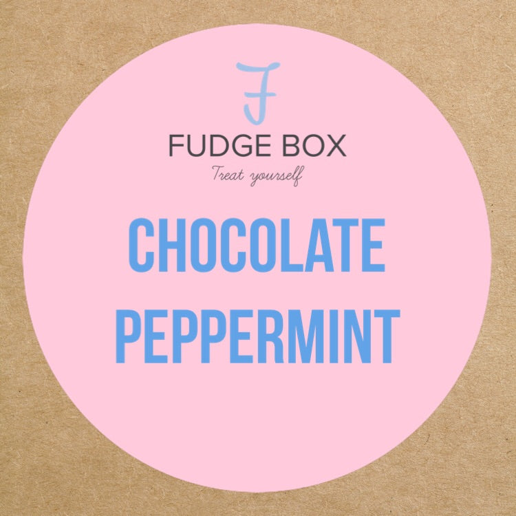 Fudge Box Factory Chocolate Peppermint Fudge + Toppings