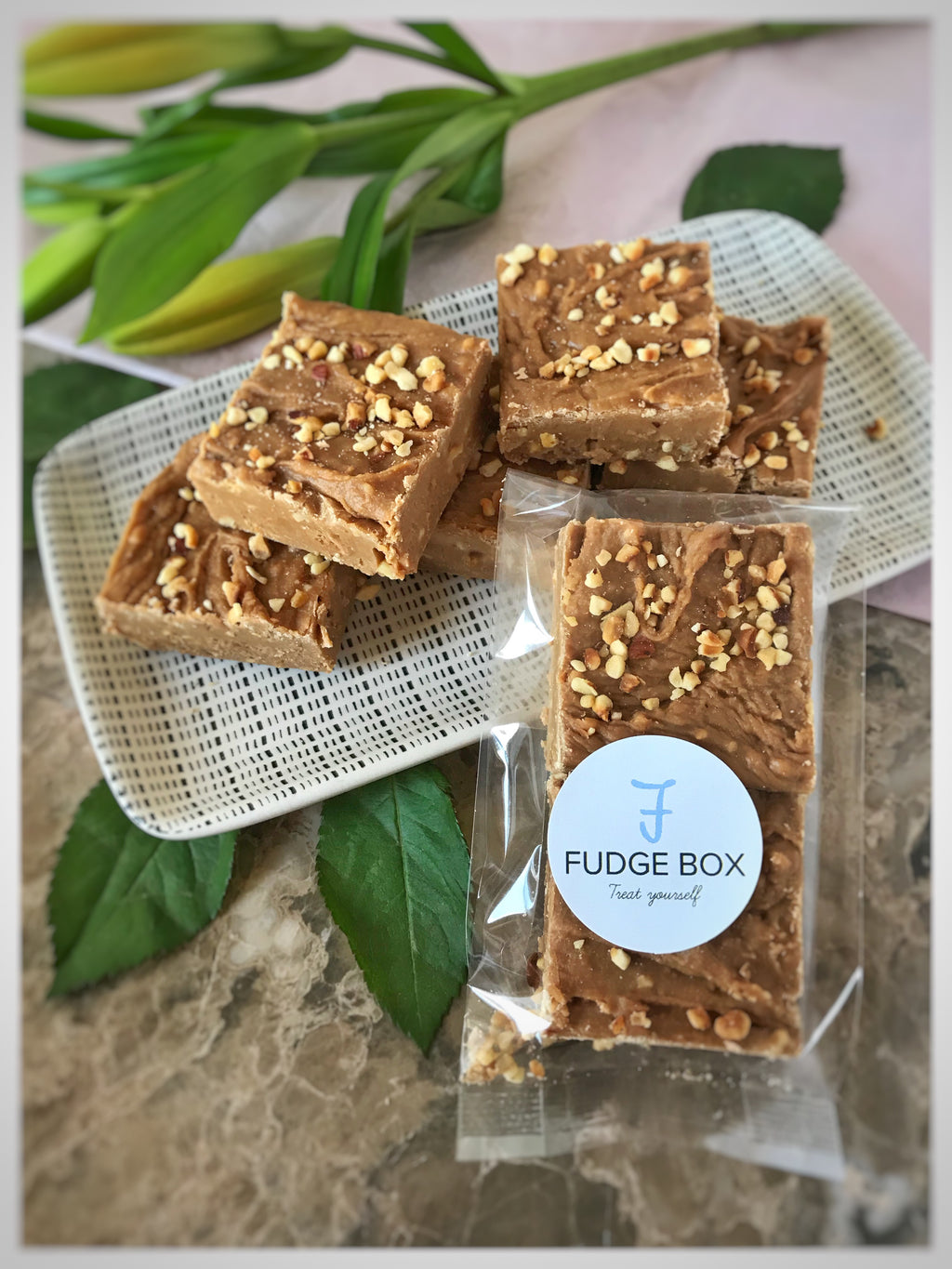 Coffee and Hazelnut Fudge 100g