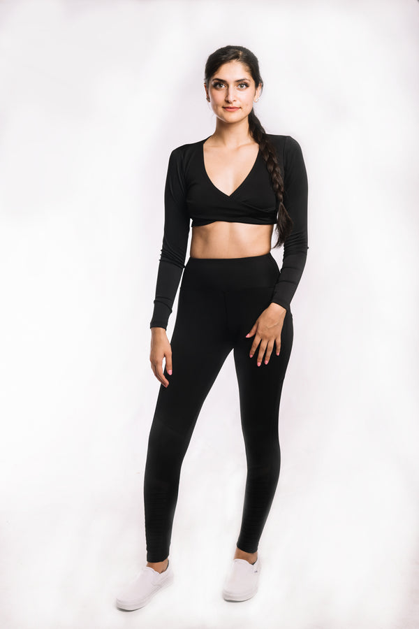 Raven Black Moto Leggings