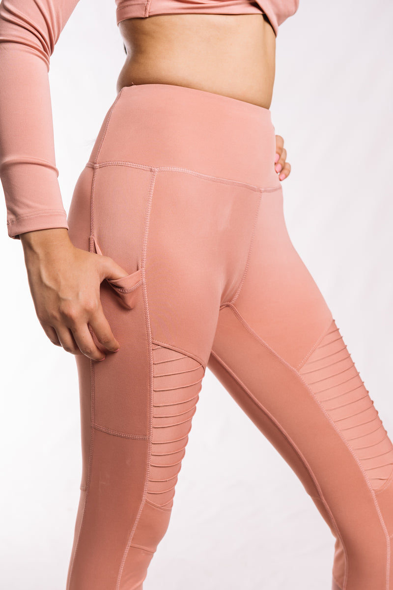 Ash Rose Moto Leggings