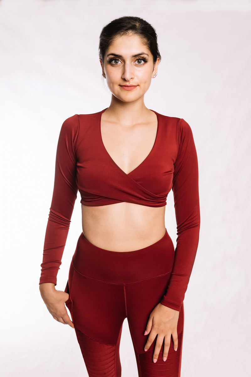 Wine Red Crisscross Top