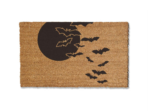 French Bull Dog Silhouette Doormat, non-slip outdoor coir doormat
