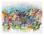 'Salt Lake City Scape' - Print