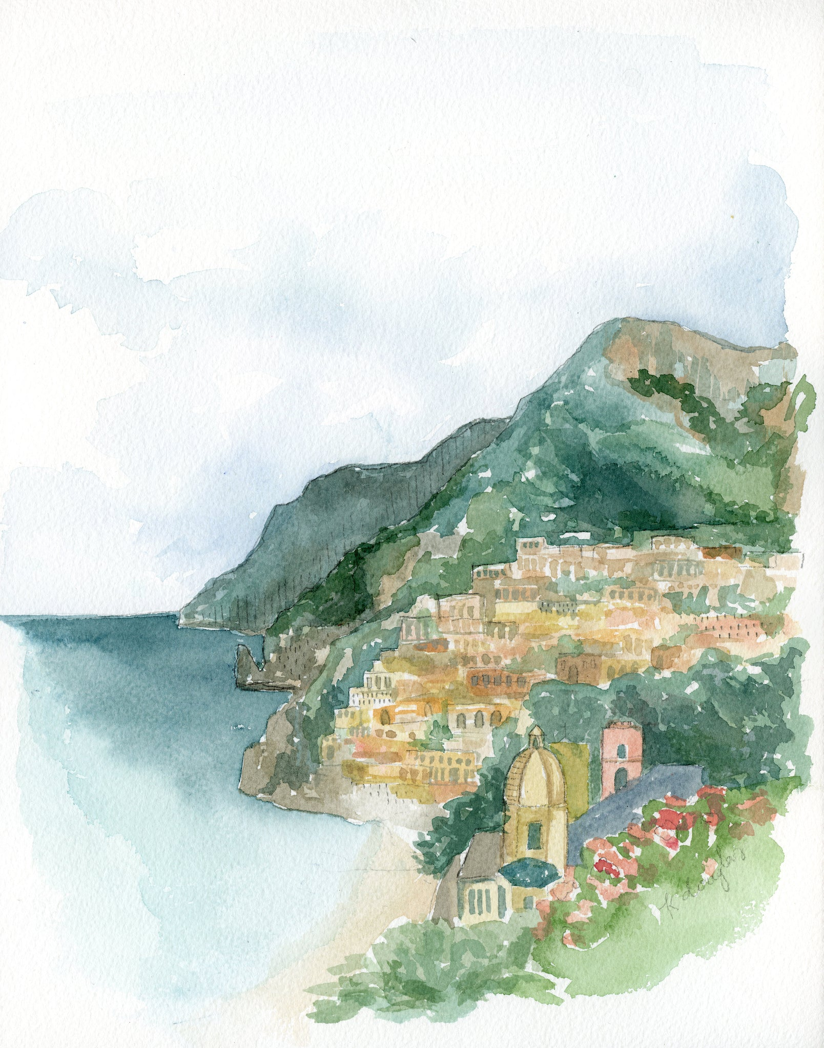 Amalfi Coast Original Painting- 11x14