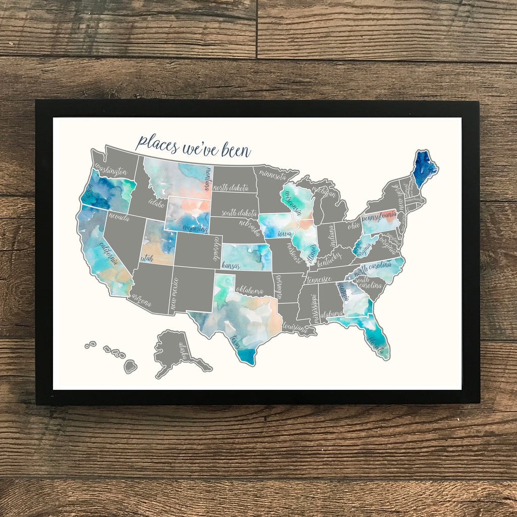 Pre Order - 'Dreamer' - Silver United States Scratch Off Map