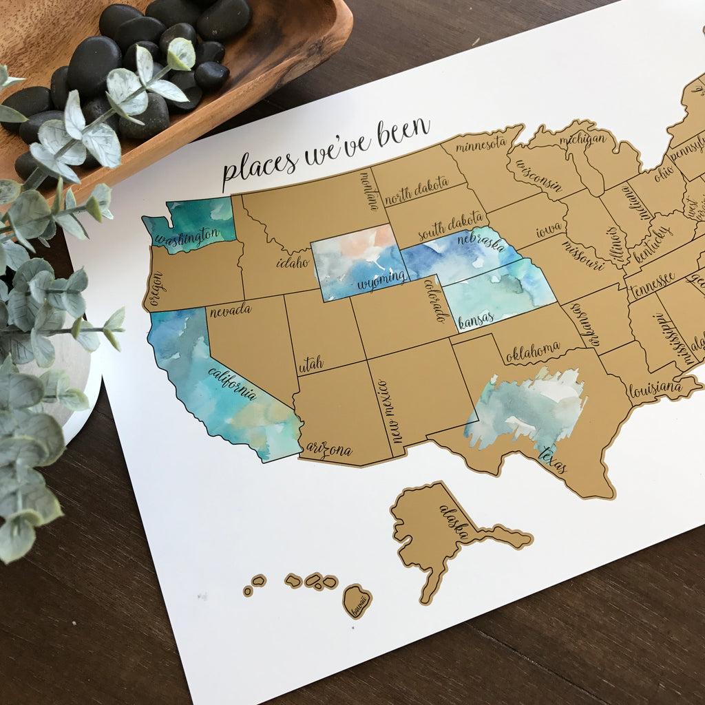 'Dreamer' - United States Scratch Off Map