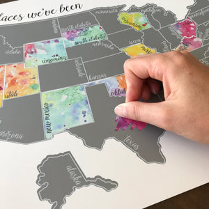 'Been There Scratched That' Silver Scratch Off Map