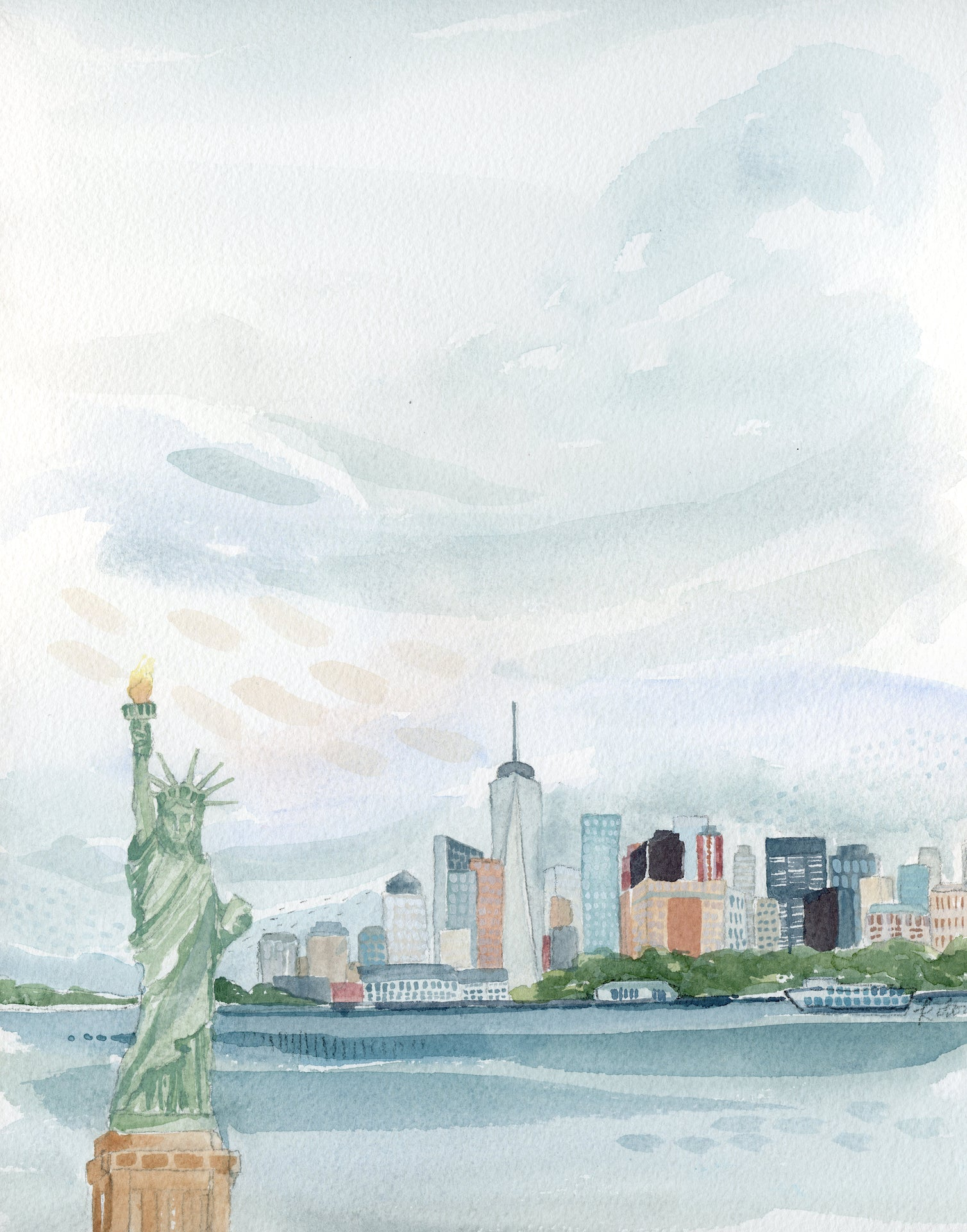 New York City Original Watercolor Painting- 11x14