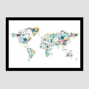 Silver Rose Less Traveled World Map