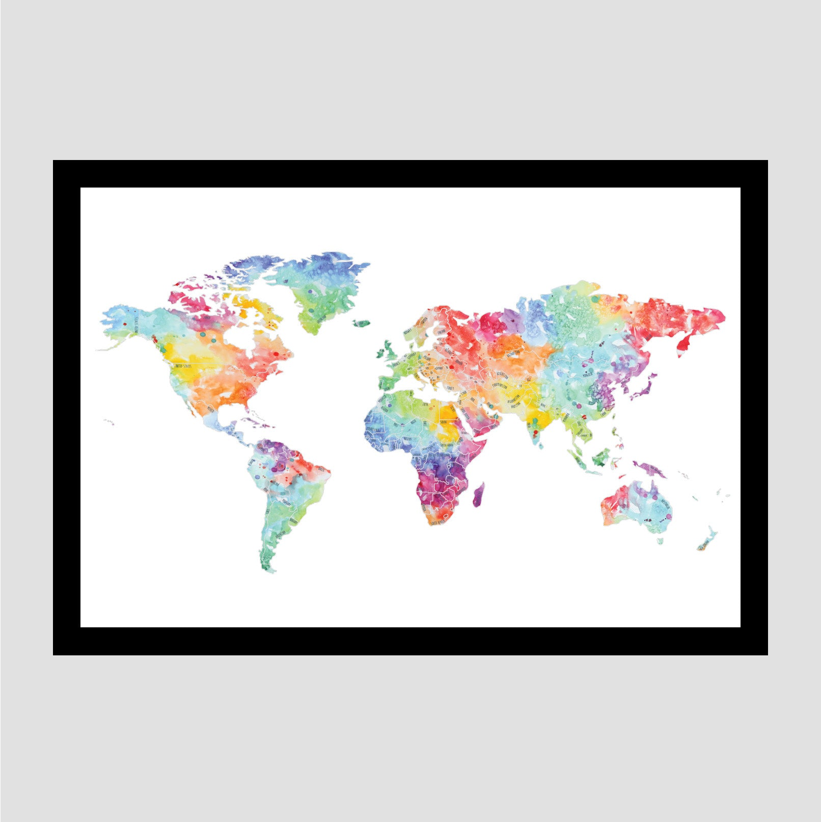 Globe Trotter - Silver World Map