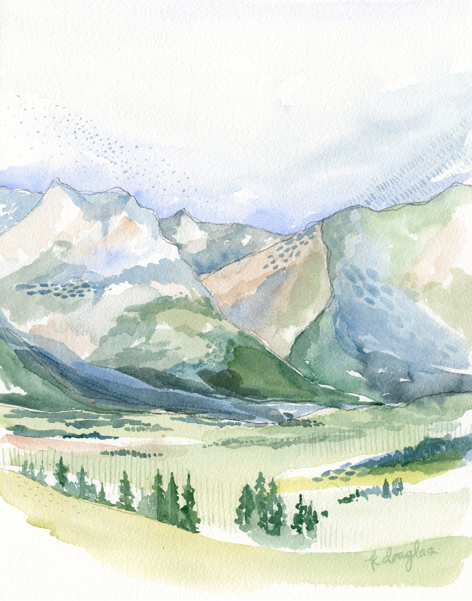 Switzerland Original Watercolor Painting- 11x14
