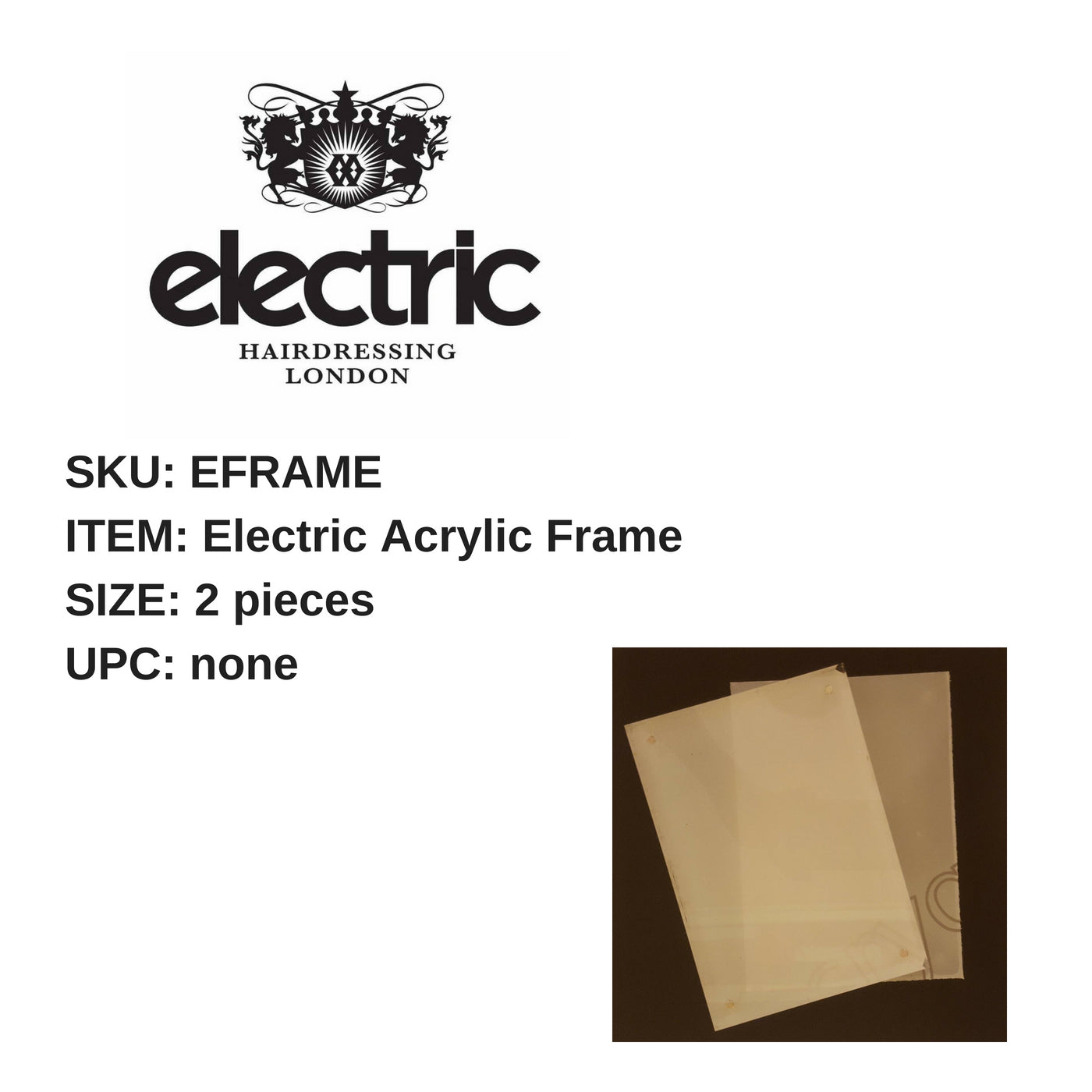 Electric Acrylic Frame