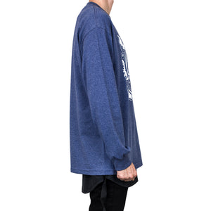 90's Champions L/S Tee : Heather Denim