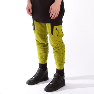 Cargo Dimension Joggers : Green/Black
