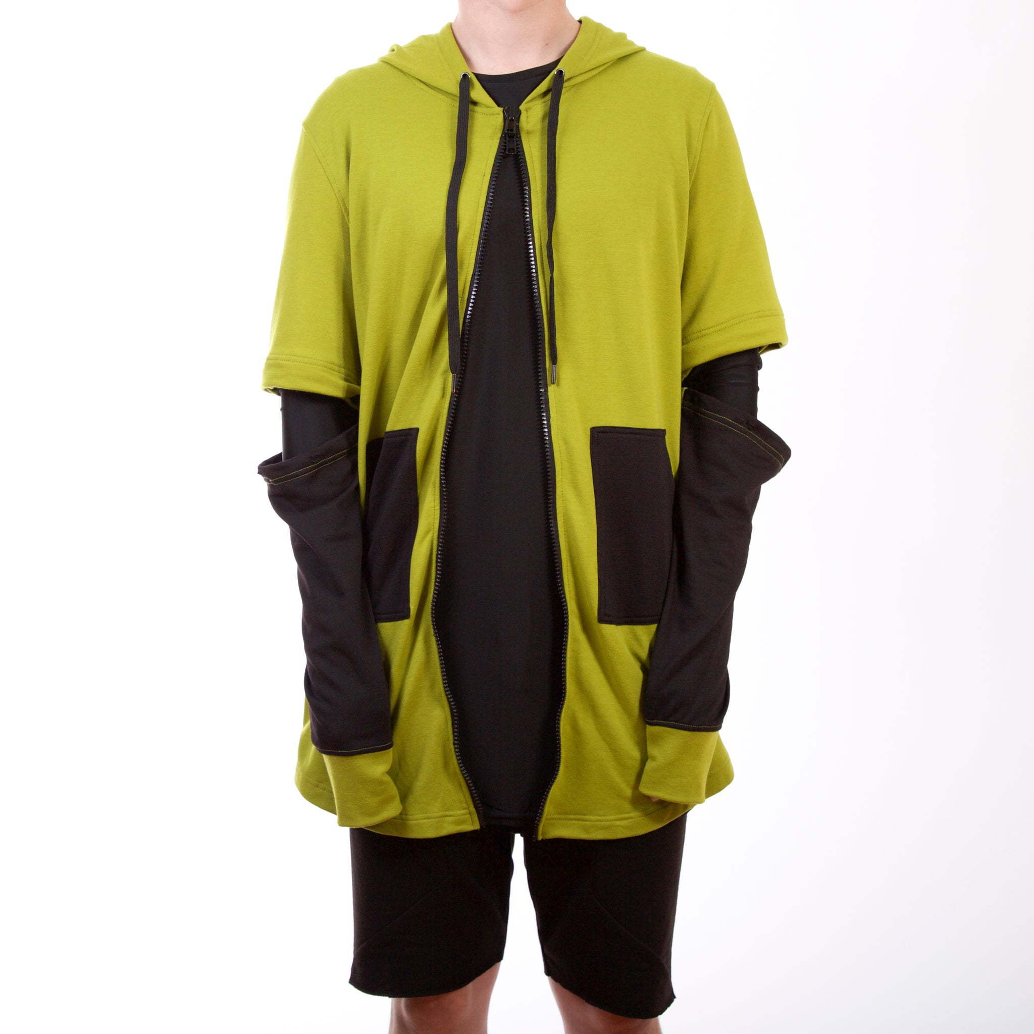 Adapt Fishtail Hoody : Green/Black