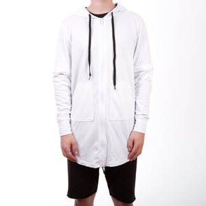 Adapt Fishtail Hoody : White