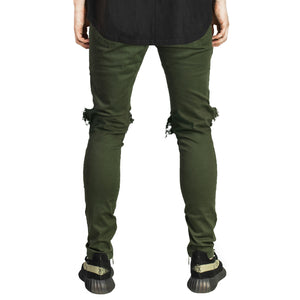 Knee Hole Pants : Dark Olive