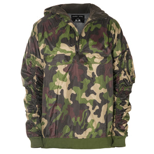 Anorak Hooded Bomber Jacket : Camo