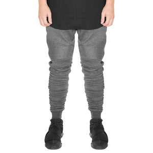 Biker Gathered Joggers 2.0 : Charcoal Heather